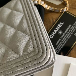 CHANEL Bags - ✨ Chanel boy wallet on chain caviar leather